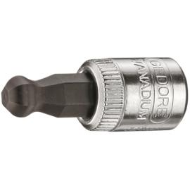Gedore imbusz dugókulcs betét 1/4'', gömbfej, belső hatszög 4 mm (IN 20 K 4)